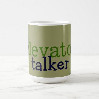 elevator talker coffee mugs