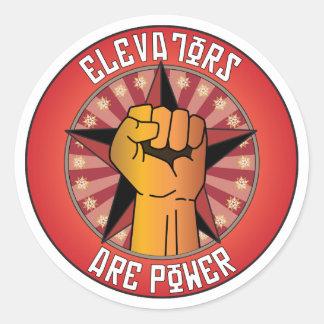 Elevators Are Power Classic Round Sticker