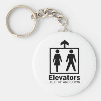 elevators do it up and down key chain