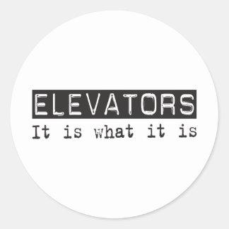 Elevators It Is Classic Round Sticker