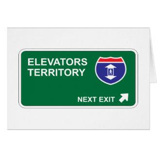 Elevators Next Exit Card