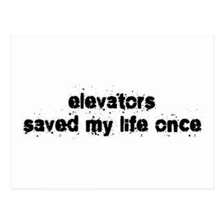 Elevators Saved My Life Once Postcard