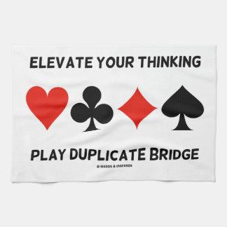Eleve su puente de pensamiento del duplicado del j toalla