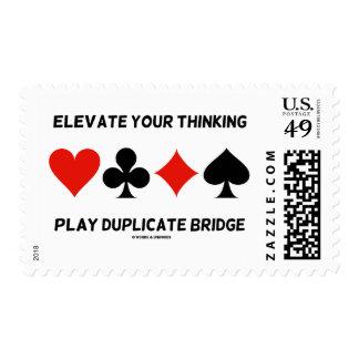 Eleve su puente de pensamiento del duplicado del sellos