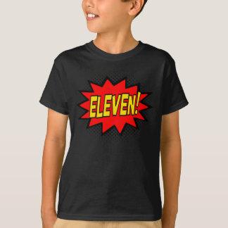 ELEVEN! 11th Birthday Gift Superhero Logo T-Shirt