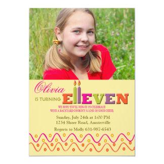 Eleven Candles Photo Invitation