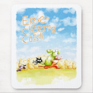 Eleven Cheers Cats Mouse Pad