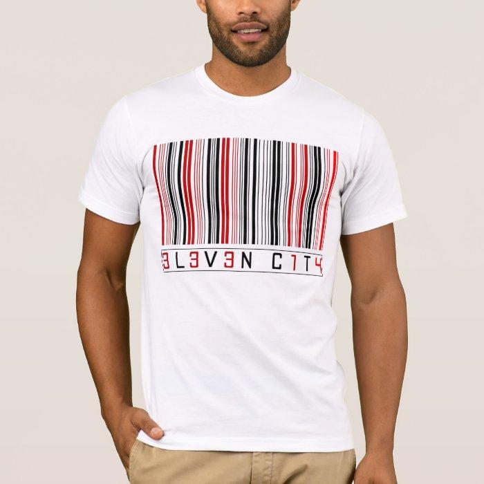 Eleven City Barcode T-Shirt