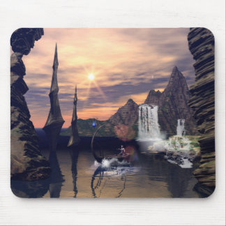 Eleven drives with a lamps boat mouse pad