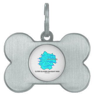 Eleven Glaciers On Mount Hood (Geology Map) Pet ID Tag