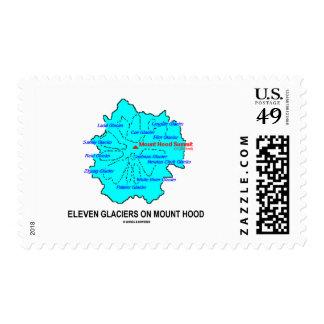 Eleven Glaciers On Mount Hood (Geology Map) Postage