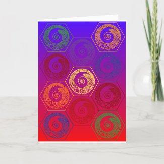 ELEVEN HEXAGON - DESIGN 3 - MULTI-COLOR - CARD