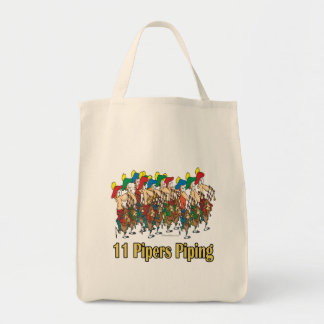 eleven pipers piping  11th day of christmas bags