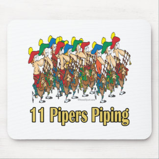 eleven pipers piping  11th day of christmas mouse pad