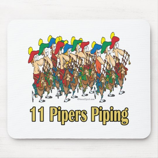 eleven pipers piping 11th day of christmas mouse pad - 11th Day Of Christmas