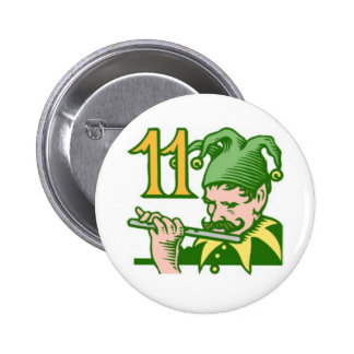 Eleven Pipers Piping Buttons