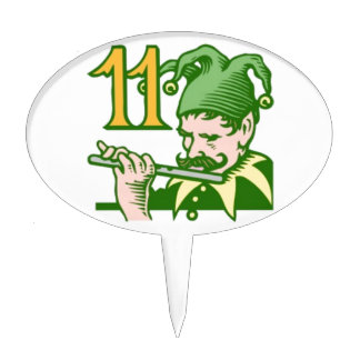 Eleven Pipers Piping Cake Toppers
