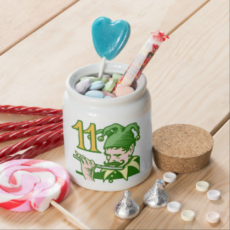 Eleven Pipers Piping Candy Jar