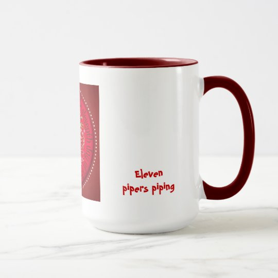 Eleven pipers piping mug