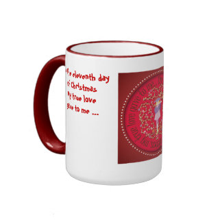 Eleven pipers piping ringer mug