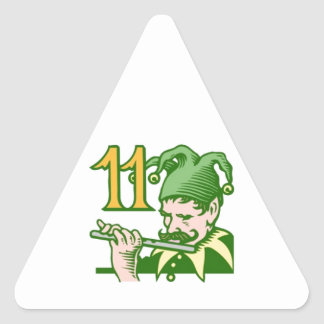 Eleven Pipers Piping Triangle Sticker
