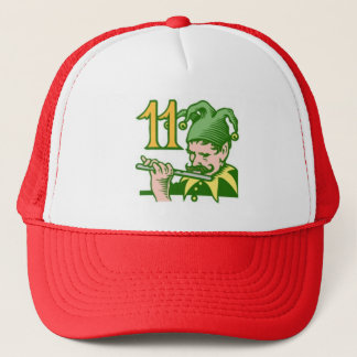 Eleven Pipers Piping Trucker Hat