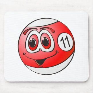 Eleven Pool Ball Cartoon Mouse Pad