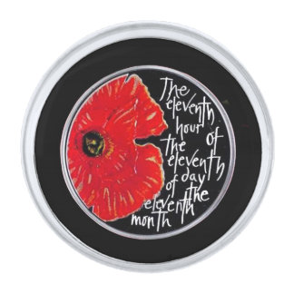 Eleven Remembrance Day Lapel Pin