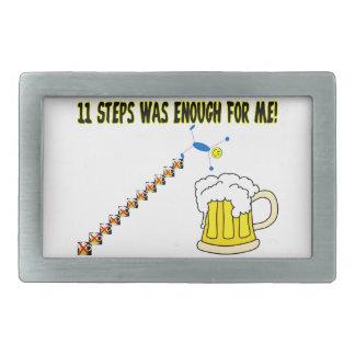 Eleven Steps Was Enough Alcoholic Rectangular Belt Buckle