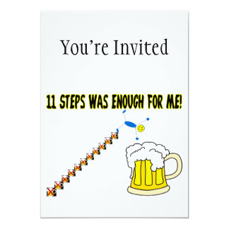 Eleven Steps Was Enough Alcoholic Card