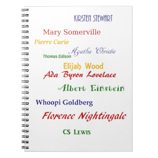 Eleven well-known hemskolare spiral notebook