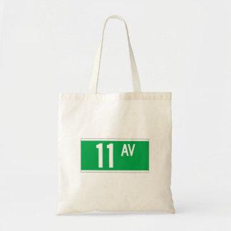 Eleventh Av., New York Street Sign Tote Bag
