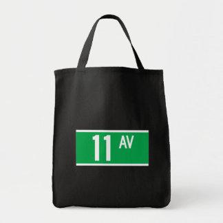 Eleventh Av., New York Street Sign Canvas Bag