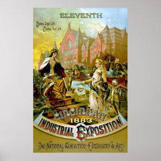 Eleventh Cincinnati Industrial Exposition Poster