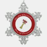 Eleventh Day of Christmas Snowflake Ornament