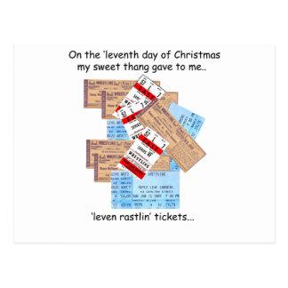 Eleventh Day Redneck Christmas Postcard