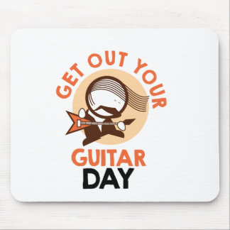 Eleventh February - Get Out Your Guitar Day Mouse Pad