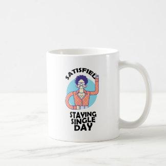 Eleventh February - Satisfied Staying Single Day Coffee Mug