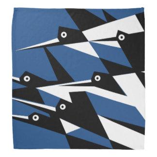 Elévese a los pájaros geométricos del art déco del bandanas