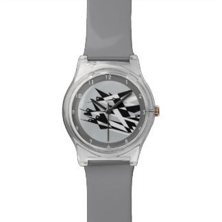 Elévese a los pájaros geométricos del art déco del reloj