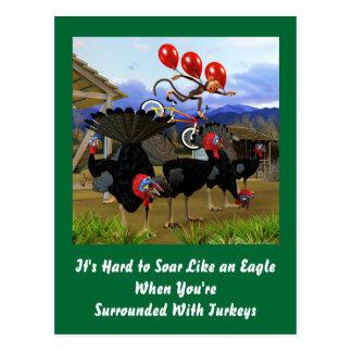 Elévese como Eagle Tarjeta Postal