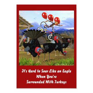 Elévese como un cumpleaños de Eagle invitan Comunicado Personalizado