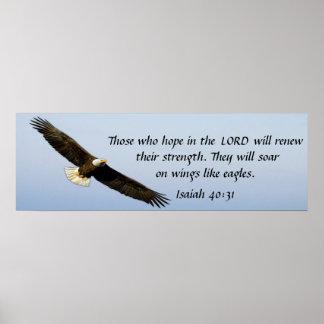 Elévese como un poster del 40:31 de Isaías del ver