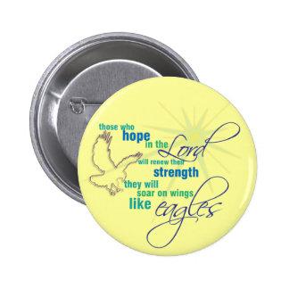 Elévese en el botón/la insignia cristianos de la e pin