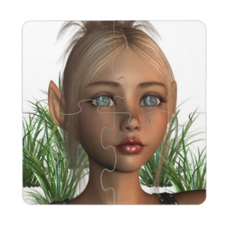 elf-16 puzzle coaster