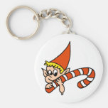 Elf and Christmas Candy Cane Key Chains