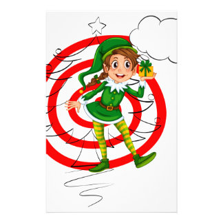 Elf and christmas stationery
