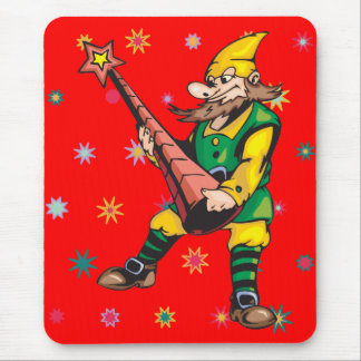 Elf and Christmas Tree Topper Mouse Pad