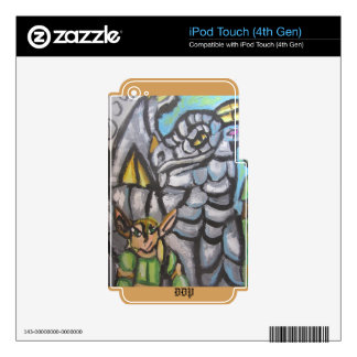 elf and dragon art one decals for iPod touch 4G