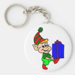 Elf And Gift Key Chains